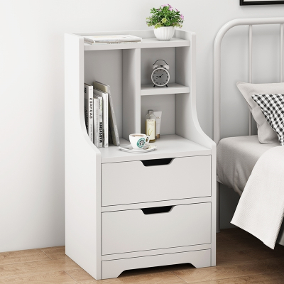 床頭柜置物架實木色簡約現代北歐儲物柜古達收納臥室簡易床邊小型柜子
