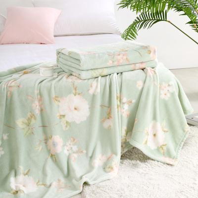 百麗絲家紡 水星出品 雙人春秋季毛毯蓋毯 春月華庭法蘭絨毯