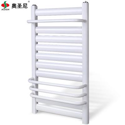 暖气片家用壁挂式钢制低碳钢小背篓卫浴水暖卫生间中心距40高60毛巾架7+4白色