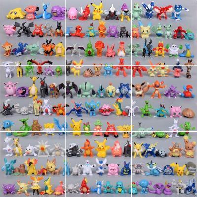 全套精靈寶可夢模型公仔神獸超口袋寶貝進化手辦神奇玩具 24個小不重復 送7厘米精靈球和10張對戰卡