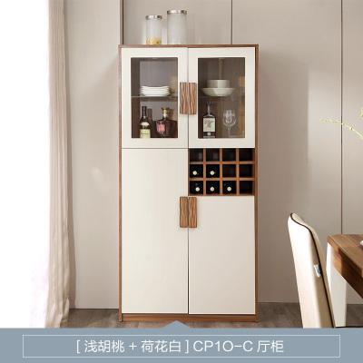 林氏木业 酒柜 玻璃门酒柜简约现代红酒柜人造板式经济型客厅隔断柜原木色家具CP1O-C
