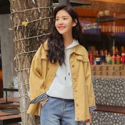 魅言魅語(MeiYanMeiYu)牛仔外套女2019新款早春bf寬松韓版女裝牛仔服長袖上衣