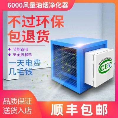油烟净化器6000风量小型商用饭店厨房餐饮环保过滤油烟分离器高排纳丽雅(Naliya)