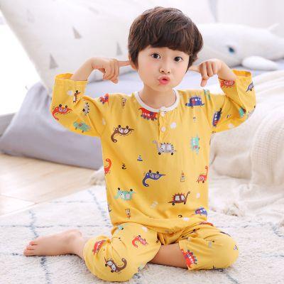 夏季男女童裝綿綢內衣套裝兒童家居服套裝寶寶睡衣空調服