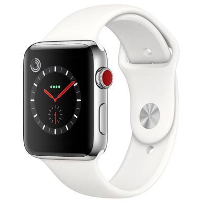 【二手95新】Apple iWatch3代 蘋果智能手表S3 原裝正品電話運動防水手表 白色 蜂窩版 38mm裸機送表帶