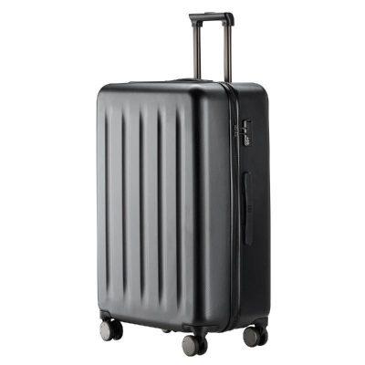 90分旅行箱 靜音萬向輪行李箱大容量密碼箱 純PC拉桿箱男女旅行箱 幻夜黑 20寸