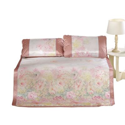 百丽丝 BLISS水星家纺出品 浪漫之城冰丝席 夏季凉席床品 多花型凉席套件