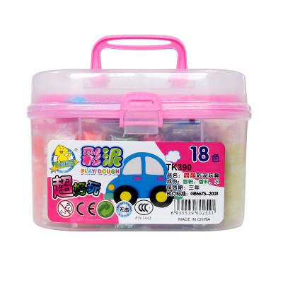 18色儿童彩泥 超轻粘土 彩泥无毒橡皮泥 模具沙套装 雪花玩具 儿童手工彩泥玩具捏橡皮泥