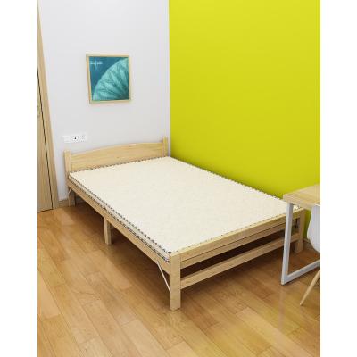 RESTAR瑞仕达新款松木床折叠床双人床1.2米实木床单人床1米木板床简易床午睡午休床
