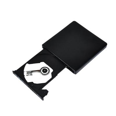 STW 外置DVD光驅 CD刻錄機USB3.0 移動外接 臺式筆記本一體機光驅 兼容蘋果/聯想/戴爾 鋁合金外殼 黑色