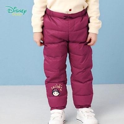 迪士尼童裝男童羽絨褲子冬裝寶寶帥氣休閑長褲兒童秋冬百搭長褲潮