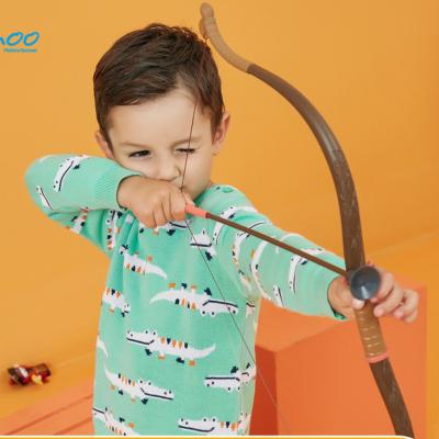 【2件2.5折價:44.8】美特斯邦威童裝moomoo男童毛衣洋氣秋冬新款寶寶卡通套頭針織衫
