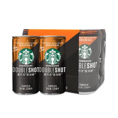 starbucks/星巴克星倍醇焦香玛奇朵味228ml*6 浓咖啡饮料