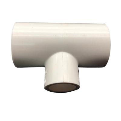 帮客材配 冰一点 中央空调专用排水接头 PVC变径三通(白色)规格:φ50*25 单价2.16元/个 50个免邮