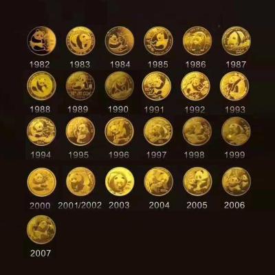 河南中錢 中國金幣 熊貓25周年 金幣套裝