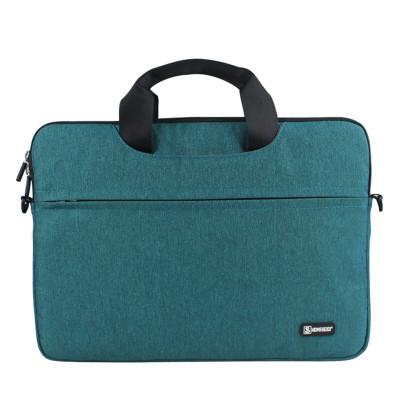 適用 YOGA720單肩手提筆記本電腦包12.5英寸聯想Yoga 小新Air毛絨內 墨綠色 昭陽K22-8012.5英寸