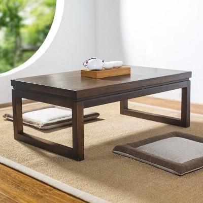 枳記家 老榆木榻榻米茶幾實木飄窗桌子小茶幾日式矮桌子炕桌榻榻米桌