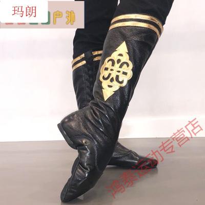 因樂思(YINLESI)民族舞男練功鞋 蒙古靴子女舞蹈馬靴藏族舞蹈鞋民族舞蹈爵士舞高筒靴男水兵舞靴子SN4748