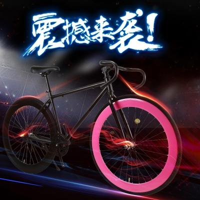 王太醫死飛自行車男超輕城市倒剎公路賽車女活飛成人實心胎網紅學生單車