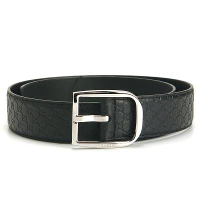 Gucci/古驰/古奇 449716 男式时尚简约针扣式皮带腰带