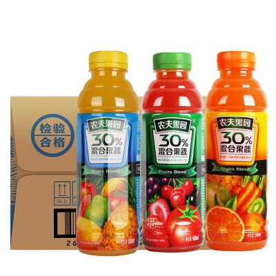 農夫山泉農夫果園30%混合果蔬汁多口味可選500ml*15瓶整箱