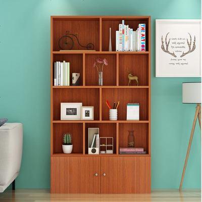 书柜带儿童绘本收纳柜书架置物架带书房家具现代简约柜可定制