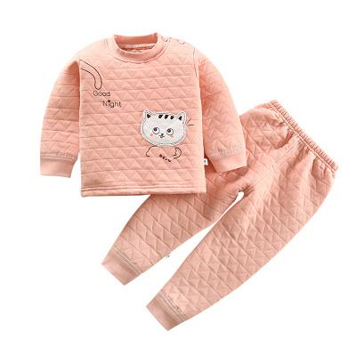 【年后发货】口袋虎秋冬季0至6岁男女童时尚三层夹棉加厚套装110cm