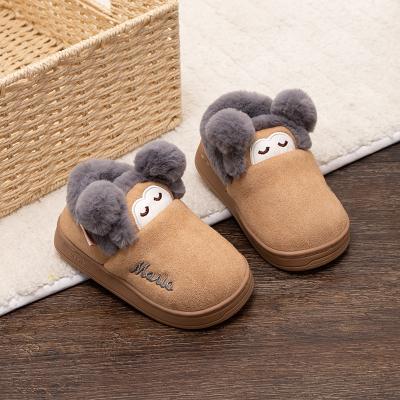 儿童棉拖鞋冬季2-3岁男童女童家居包跟小孩幼儿防滑软底宝宝拖鞋