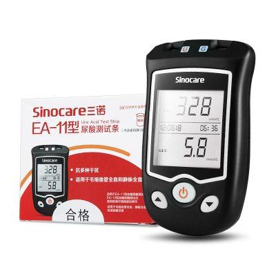送尿酸試紙50片】三諾(SANNUO)EA-11血糖尿酸測試儀試紙 家用痛風檢測儀測量精準