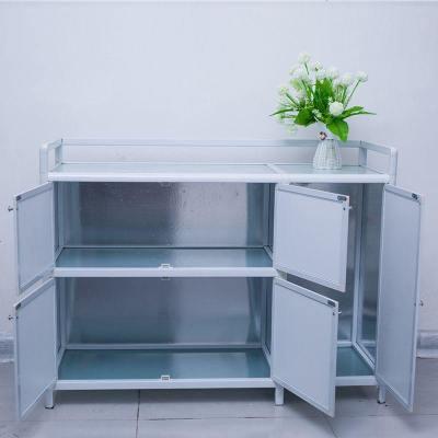 HOTBEE碗柜鋁合金廚柜灶臺柜櫥柜不銹鋼廚房儲物柜收納柜簡易組裝柜子