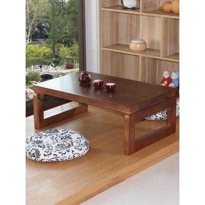 汐巖桐木簡約日式飄窗桌榻榻米桌子小茶幾實木炕桌家用折疊陽臺矮桌子