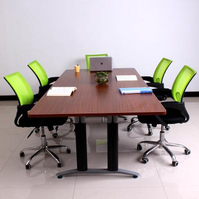 大疆(dajiang)會議桌子長桌條形桌小型會議桌辦公家具長方形桌長條桌培訓桌洽談桌辦公桌客廳開會人造板面金屬腿簡約現代