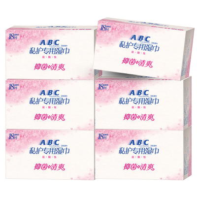 ABC衛生濕巾 私處衛生護理濕紙巾108片弱酸性KMS配方