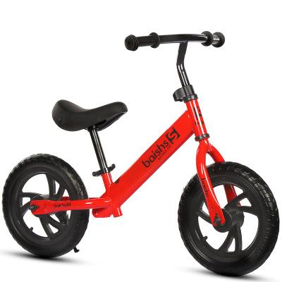 海の心家具(HAIZHIXIN)兒童平衡車 無腳踏兩輪自行車 12寸免充氣寶寶滑行學步車無腳踏2至6歲可用