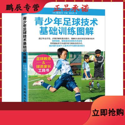 青少年足球技术基础训练图解 足球书籍