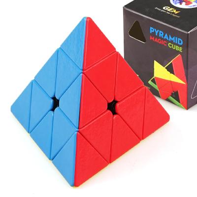 圣手7213A寶石金字塔魔方 專業比賽異形魔方三角形魔方GEM彩色兒童小孩益智玩具減壓魔方