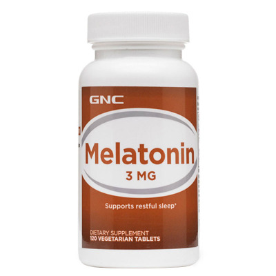 美國原裝GNC褪黑素3mg120片劑melatonin氨基酸松果體素美樂通寧睡眠