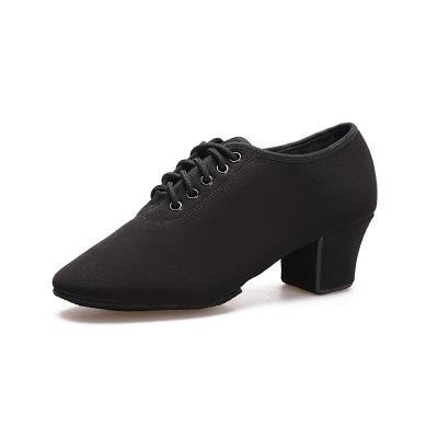 因樂思(YINLESI)拉丁舞鞋 中跟布教師鞋四季摩登舞鞋水兵舞蹈鞋軟底交誼舞鞋