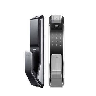 耶鲁(SAMSUNG)指纹锁 密码磁卡锁智能防盗门锁电子锁SHS-DP718(流光银)