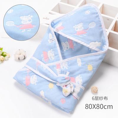 嬰兒純棉紗布抱被寶寶包巾春秋初生兒包被六層襁褓嬰兒用品夏季薄款
