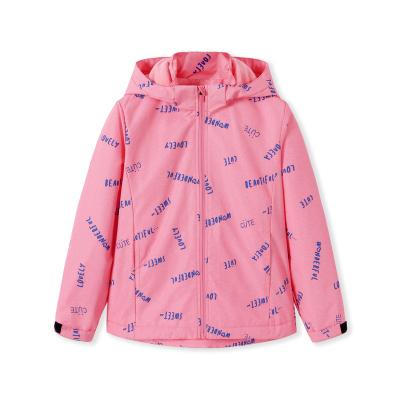 巴拉巴拉童裝女童外套中大童春裝新款兒童沖鋒衣加絨保暖洋氣