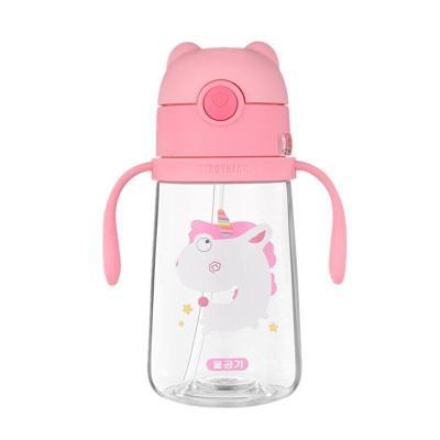 杯具熊 beddybear 母嬰幼兒童 tritan大容量兩用水壺便攜式背帶寶寶水杯直飲吸管兩用杯塑學飲杯-獨角獸