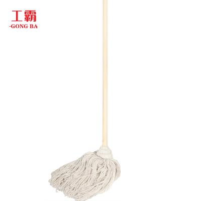 工霸(GONGBA)老式木柄拖把 白棉线木杆拖把墩布拖布(10把)