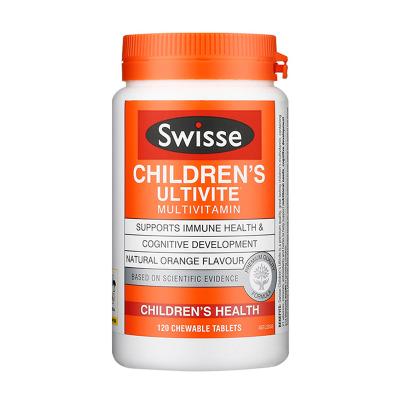 【清仓6折】Swisse儿童维生素咀嚼片120粒瓶装澳洲进口2岁以上儿童【效期至2020-03-01】