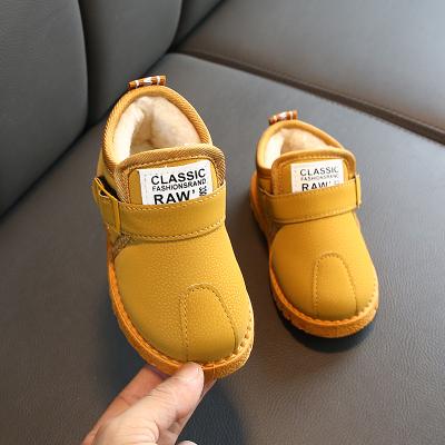 2019冬季儿童加绒加厚棉鞋男童保暖马丁靴女童雪地靴宝宝短靴