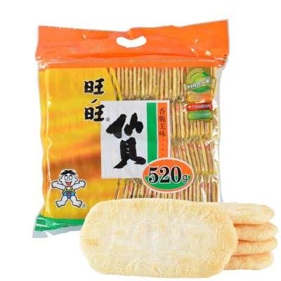 旺旺 膨化食品 仙貝520g(辦公休閑零食大禮包)