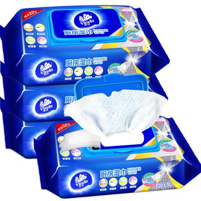 維達(Vinda) 廚房濕巾(40送8)片/包*4包 廚房用紙濕紙巾帶蓋抽取式廚房濕紙巾去油污衛生濕巾家庭裝V4002
