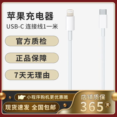 Apple 快充線蘋果原裝USB-C 轉閃電連接線 (1米)