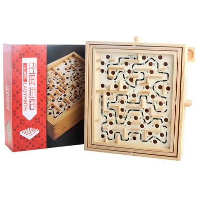 第1印象桌游平衡走珠60關木制迷宮益智力玩具迷宮類6-14歲以上兒童大人休閑