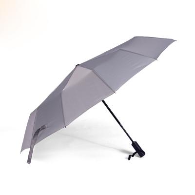 A&D純色自動晴雨傘灰色